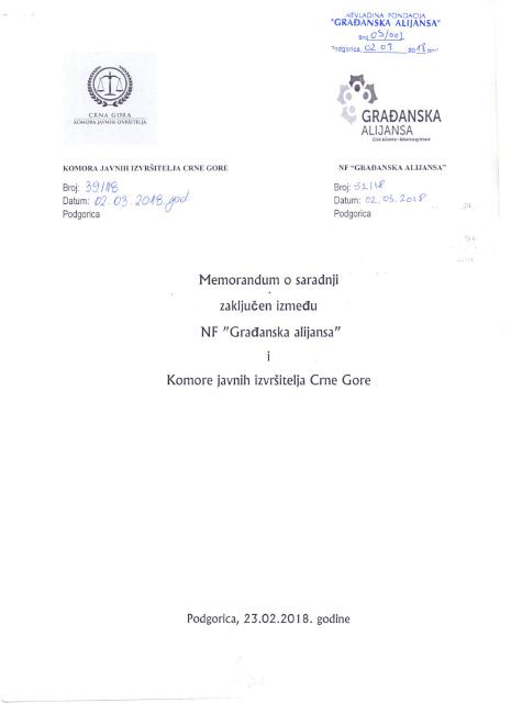 ga-komora javnih izvrsitelja cg-memorandum o saradnji